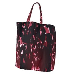 Lying Red Triangle Particles Dark Motion Giant Grocery Zipper Tote