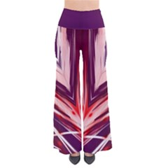 Purple Light Flower Nitz Pants