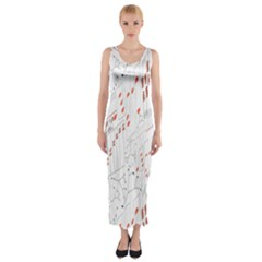 Musical Scales Note Fitted Maxi Dress