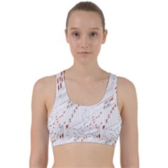 Musical Scales Note Back Weave Sports Bra
