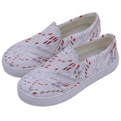 Musical Scales Note Kids  Canvas Slip Ons by Mariart