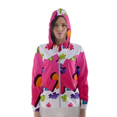 Passel Picture Green Pink Blue Sexy Game Hooded Wind Breaker (women)