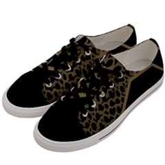 Polka Spot Grey Black Men s Low Top Canvas Sneakers by Mariart