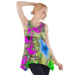 Painting Map Pink Green Blue Street Side Drop Tank Tunic by Mariart