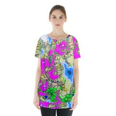 Painting Map Pink Green Blue Street Skirt Hem Sports Top by Mariart
