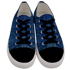Forest Tree Night Blue Black Man Men s Low Top Canvas Sneakers