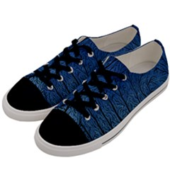 Forest Tree Night Blue Black Man Men s Low Top Canvas Sneakers by Mariart