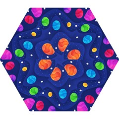 Planet Space Moon Galaxy Sky Blue Polka Mini Folding Umbrellas by Mariart