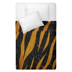 Skin3 Black Marble & Yellow Grunge (r) Duvet Cover Double Side (single Size) by trendistuff
