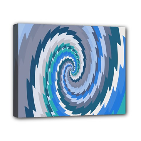 Psycho Hole Chevron Wave Seamless Canvas 10  X 8