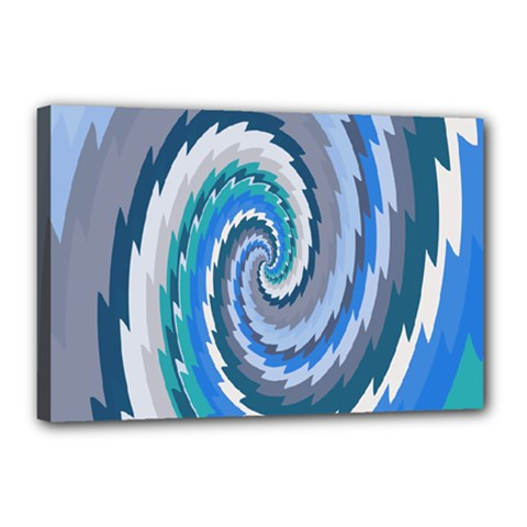 Psycho Hole Chevron Wave Seamless Canvas 18  X 12  by Mariart