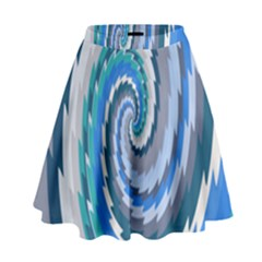 Psycho Hole Chevron Wave Seamless High Waist Skirt by Mariart