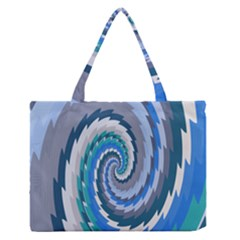 Psycho Hole Chevron Wave Seamless Zipper Medium Tote Bag by Mariart