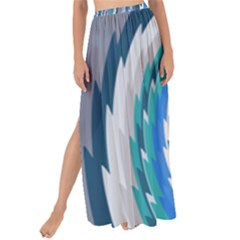 Psycho Hole Chevron Wave Seamless Maxi Chiffon Tie Up Sarong