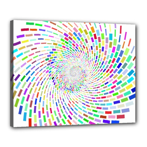 Prismatic Abstract Rainbow Canvas 20  X 16  by Mariart