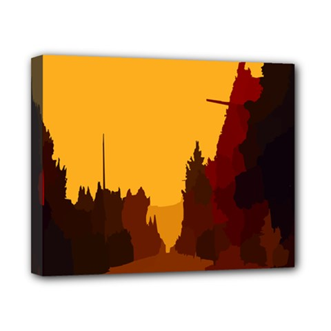 Road Trees Stop Light Richmond Ace Canvas 10  X 8  by Mariart