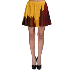 Road Trees Stop Light Richmond Ace Skater Skirt by Mariart