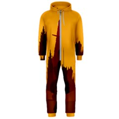 Road Trees Stop Light Richmond Ace Hooded Jumpsuit (men)  by Mariart