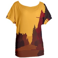 Road Trees Stop Light Richmond Ace Women s Oversized Tee by Mariart