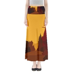 Road Trees Stop Light Richmond Ace Full Length Maxi Skirt by Mariart