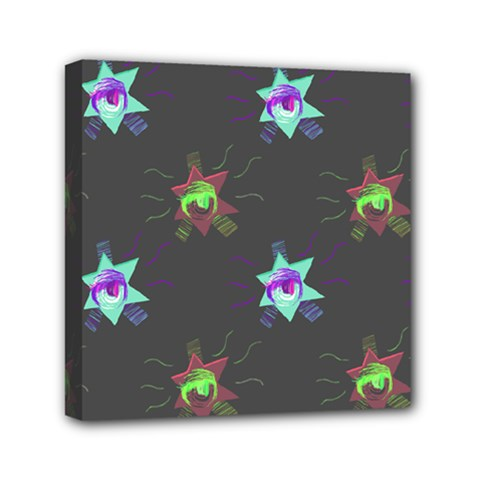Random Doodle Pattern Star Mini Canvas 6  X 6  by Mariart