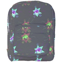 Random Doodle Pattern Star Full Print Backpack by Mariart