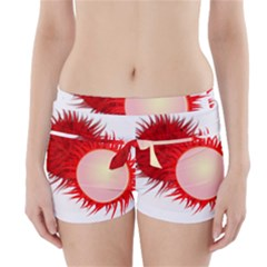 Rambutan Fruit Red Sweet Boyleg Bikini Wrap Bottoms by Mariart