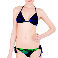 Spectrum Sputnik Space Blue Green Bikini Set