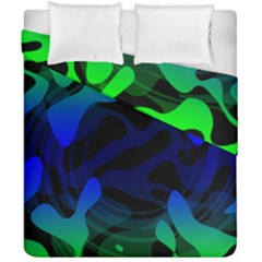 Spectrum Sputnik Space Blue Green Duvet Cover Double Side (california King Size) by Mariart