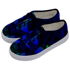 Spectrum Sputnik Space Blue Green Kids  Classic Low Top Sneakers by Mariart