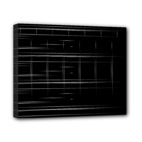 Stripes Black White Minimalist Line Canvas 10  X 8  by Mariart