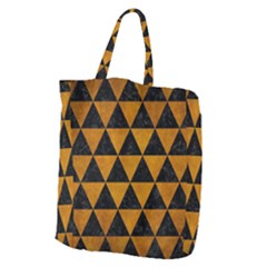 Triangle3 Black Marble & Yellow Grunge Giant Grocery Zipper Tote by trendistuff