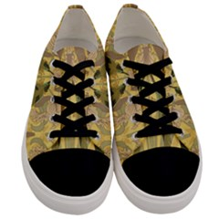 Art Nouveau Men s Low Top Canvas Sneakers