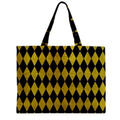 Diamond1 Black Marble & Yellow Leather Zipper Mini Tote Bag by trendistuff
