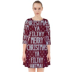 Ugly Christmas Sweater Smock Dress by Valentinaart