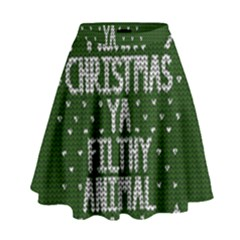 Ugly Christmas Sweater High Waist Skirt