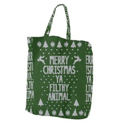 Ugly Christmas Sweater Giant Grocery Zipper Tote