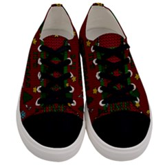 Ugly Christmas Sweater Men s Low Top Canvas Sneakers