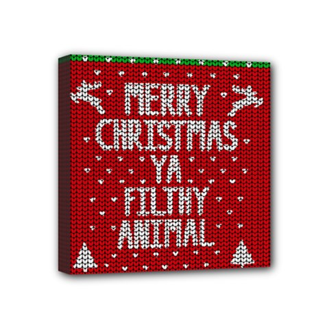 Ugly Christmas Sweater Mini Canvas 4  X 4  by Valentinaart