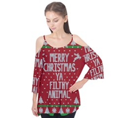 Ugly Christmas Sweater Flutter Tees by Valentinaart