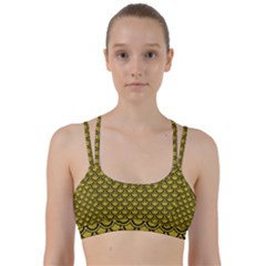 Scales2 Black Marble & Yellow Leather Line Them Up Sports Bra