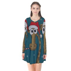 Christmas Giraffe  Flare Dress