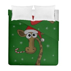 Christmas Giraffe  Duvet Cover Double Side (full/ Double Size)