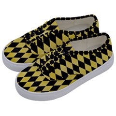 Diamond1 Black Marble & Yellow Watercolor Kids  Classic Low Top Sneakers by trendistuff