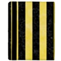 STRIPES1 BLACK MARBLE & YELLOW WATERCOLOR Apple iPad Mini Flip Case View3