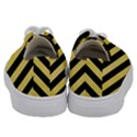 STRIPES3 BLACK MARBLE & YELLOW WATERCOLOR Kids  Low Top Canvas Sneakers View4