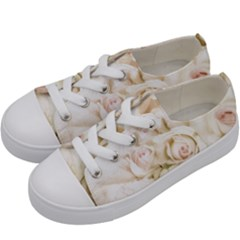 Pastel Roses Antique Vintage Kids  Low Top Canvas Sneakers by Celenk