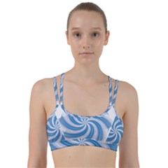 Prismatic Hole Blue Line Them Up Sports Bra