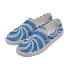 Prismatic Hole Blue Women s Canvas Slip Ons by Mariart
