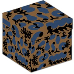 Superfiction Object Blue Black Brown Pattern Storage Stool 12   by Mariart